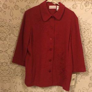 Alfred Dunner Button Beaded Shirt/Jacket Sz14 NWTs
